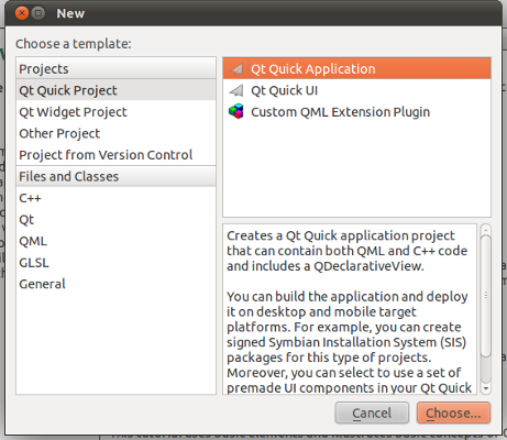 Creating and running a Hello World application with Qt SDK